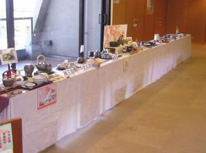 四日市萬古焼おすすめ商品の展示(お茶漬けをテーマに)